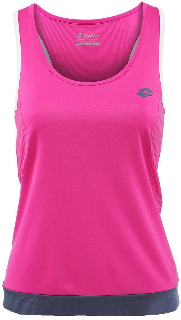 Теннисная майка женская Lotto Tank Piper pink berry/blue cosmo