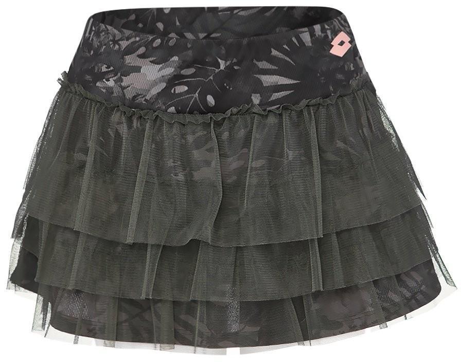 Теннисная юбка женская Lotto Camoflower Skirt leaf print