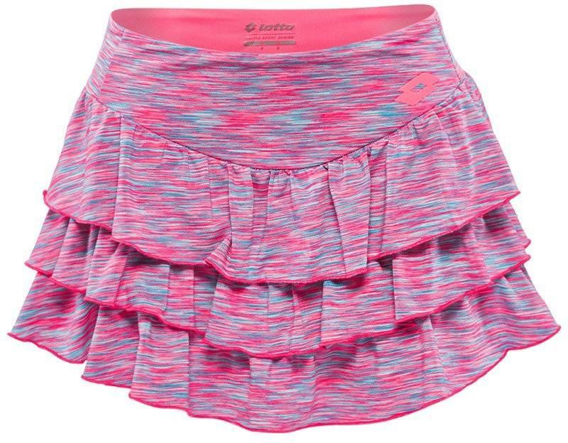 Теннисная юбка женская Lotto Eclipse Skirt pink fluo strips