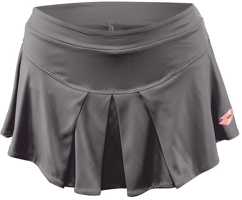 Теннисная юбка женская Lotto Nixia II Skirt grey shark