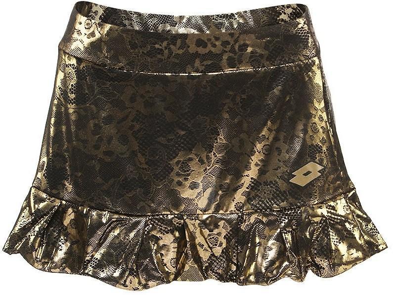 Теннисная юбка женская Lotto Skirt Lux Limited metallic lace print