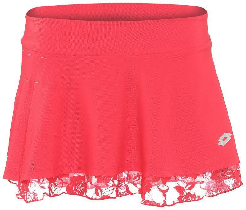 Теннисная юбка женская Lotto Skirt Victoria red juice