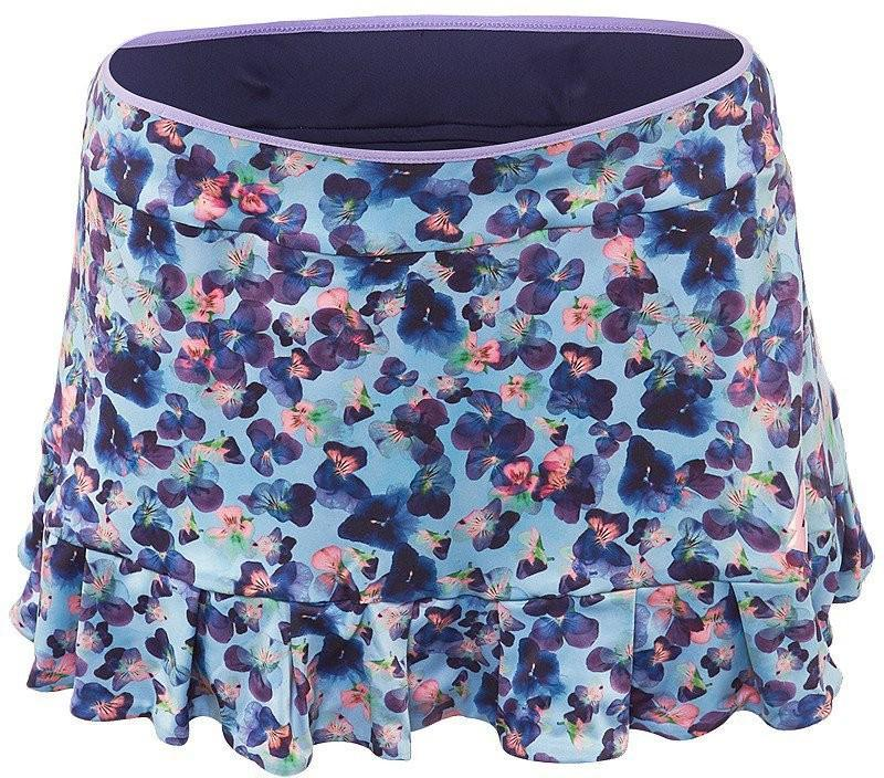 Теннисная юбка женская Lotto Twice Skirt blue marine
