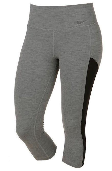 Капри женские Nike Capri Baseline dark grey heather/black