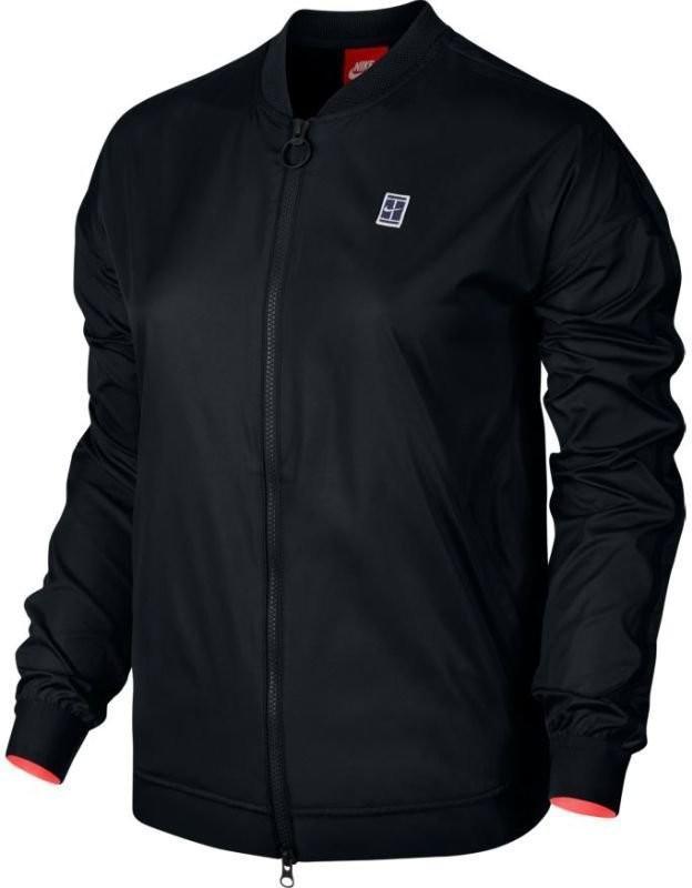 Кофта женская Nike Court Bomber EOS Jacket black/hot punch/white