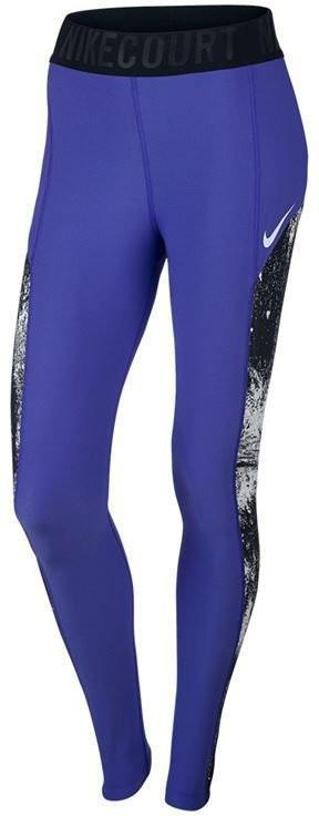 Леггинсы женские Nike Court Power Tight Baseline paramount blue/black/white