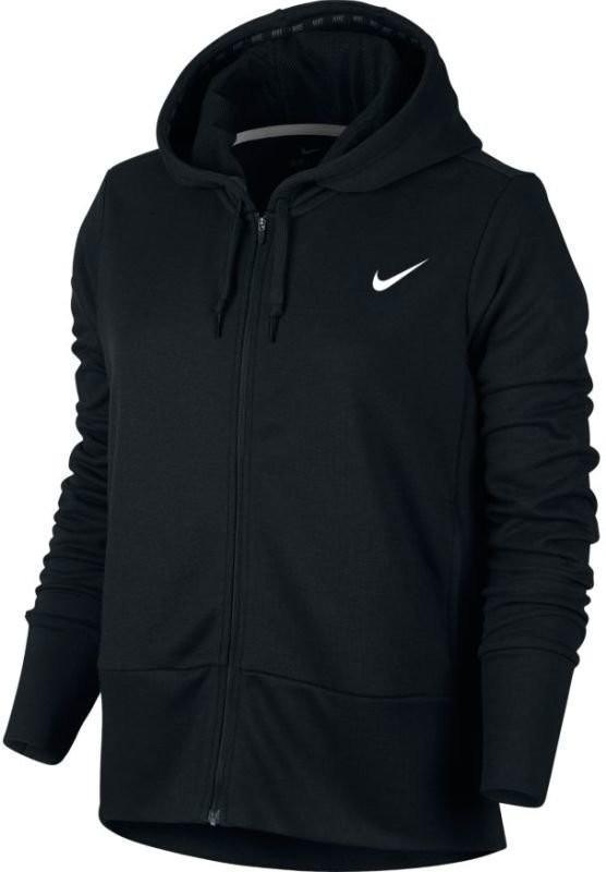 Реглан женский Nike Dry Hoodie FZ black/white