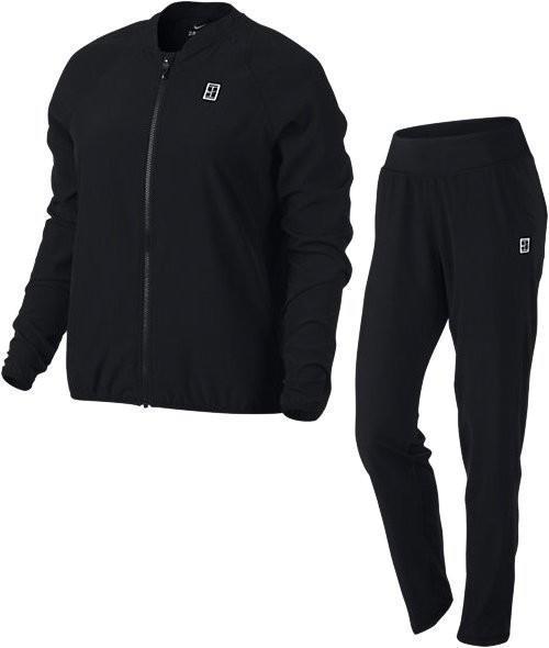 Спортивный костюм женский Nike Court Woven Warm Up black/black/white