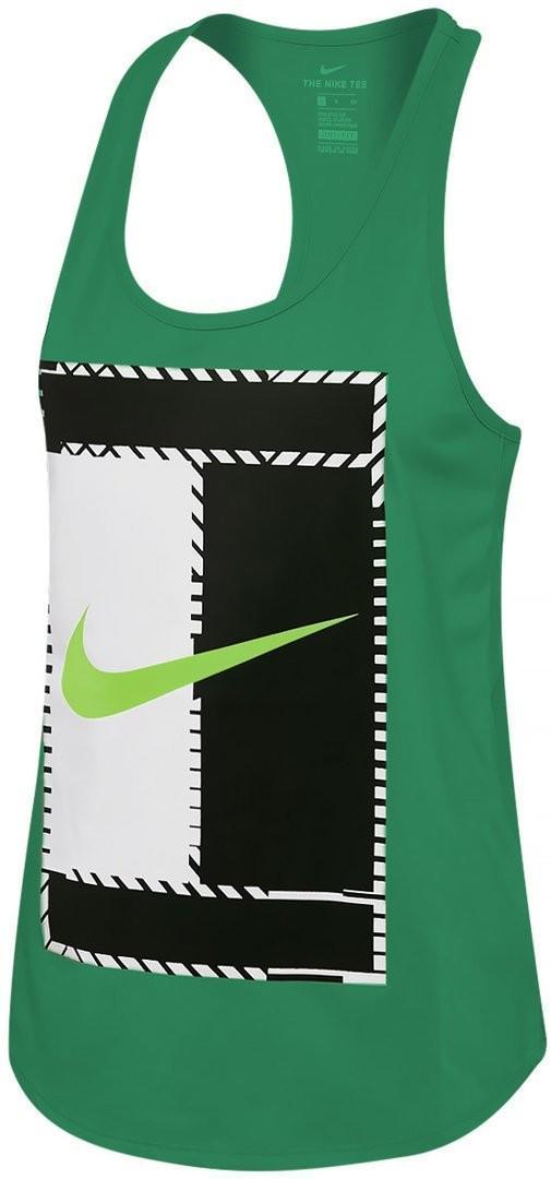 Теннисная майка женская Nike Court Dry Tank DBL Logo stadium green/ghost green