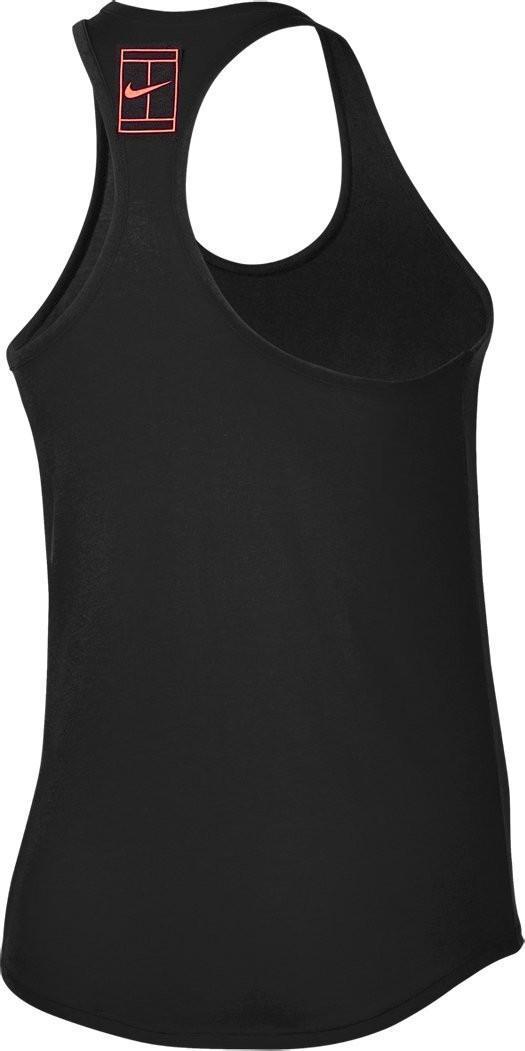 Теннисная майка женская Nike Court Dry Tee Double black/gym red/hot punch