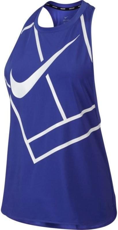 Теннисная майка женская Nike Court Tank Baseline paramount blue/paramount blue/white