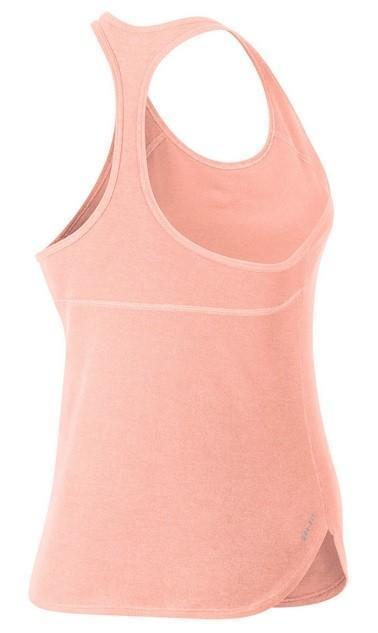 Теннисная майка женская Nike Dry Tank Slam sunset tint/white