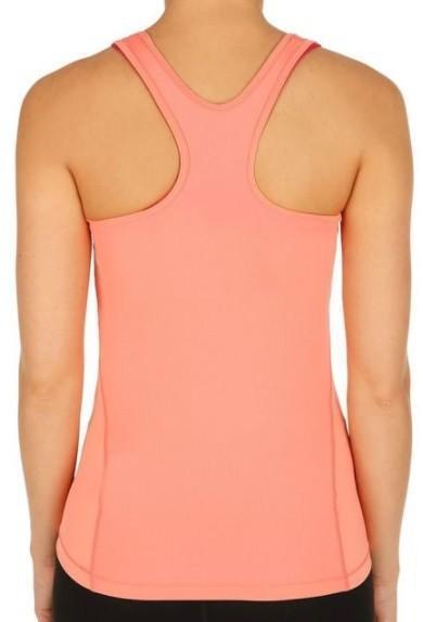 Теннисная майка женская Nike Pro Cool Tank sunset tint/white