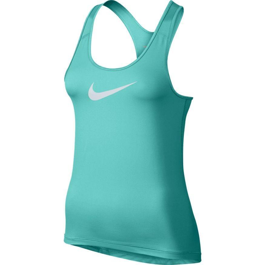 Теннисная майка женская Nike Pro Tank turquoise/white
