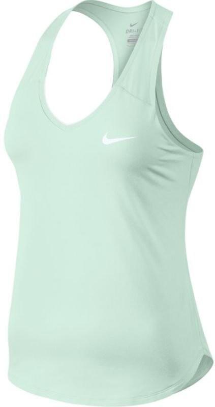 Теннисная майка женская Nike Pure Tank barely green/white