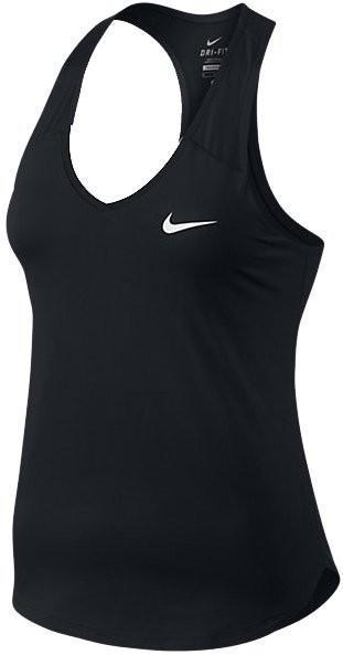 Теннисная майка женская Nike Pure Tank black/white
