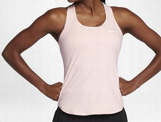 Теннисная майка женская Nike Pure Tank sunset tint/white