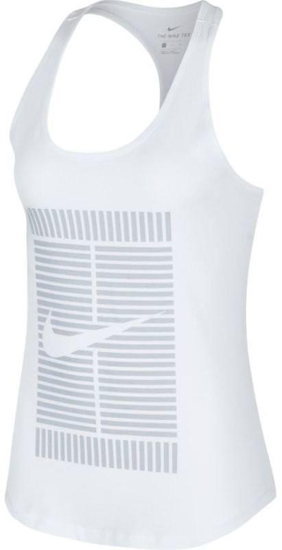 Теннисная майка женская Nike Tomboy Logo Tank white