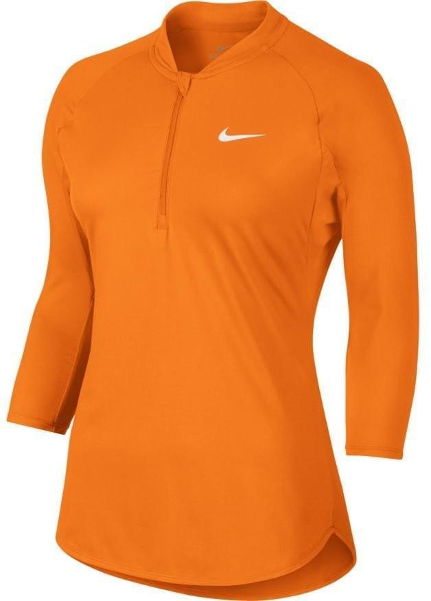 Теннисная футболка женская Nike Court Dry Pure Top tart/white