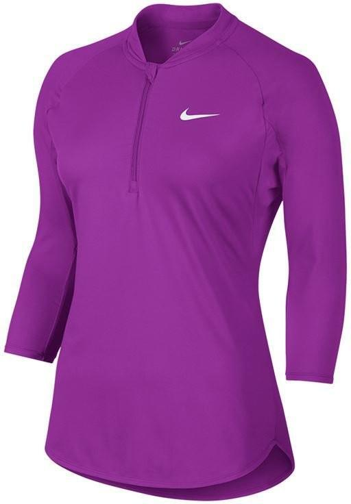 Теннисная футболка женская Nike Court Dry Pure Top vivid purple/white