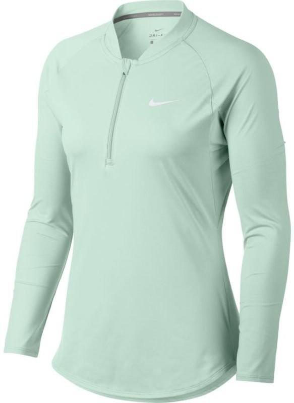 Тенісна футболка жіноча Nike Court Pure LS HZ Top barely green/white