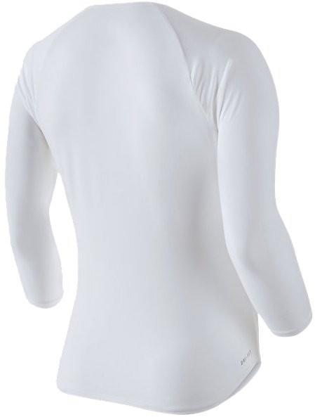 Теннисная футболка женская Nike Court Pure Top 3-4 white/black/black