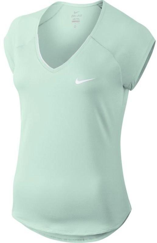Теннисная футболка женская Nike Court Pure Top barely green/white