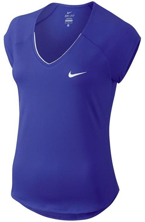 Тенісна футболка жіноча Nike Court W Pure Top paramount blue/white