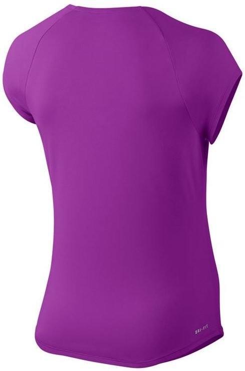 Тенісна футболка жіноча Nike Court W Pure Top vivid purple/white