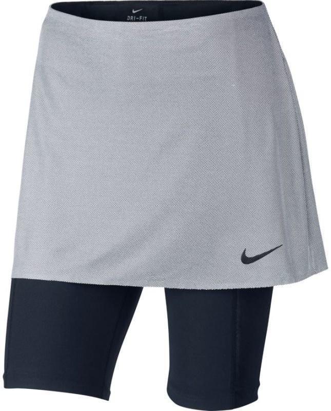 Теннисная юбка женская Nike Court Dry Skirt US Open metallic platinum/black