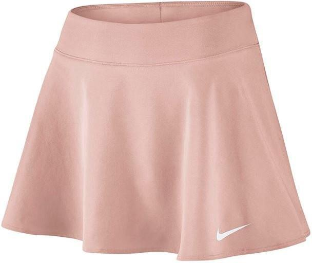 Теннисная юбка женская Nike Court FLX Pure Skirt Flouncy crimson tint/white