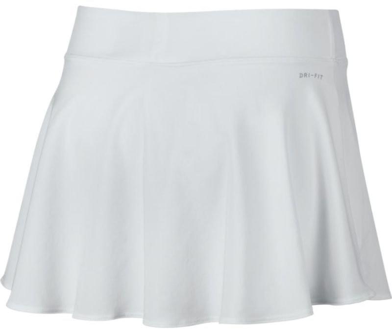 Теннисная юбка женская Nike Court FLX Pure Skirt Flouncy white/black