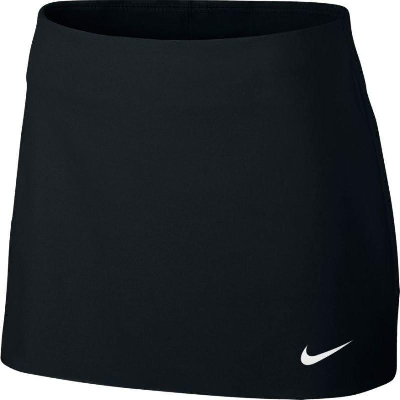 Теннисная юбка женская Nike Court Power Spin Tennis Skirt black/white