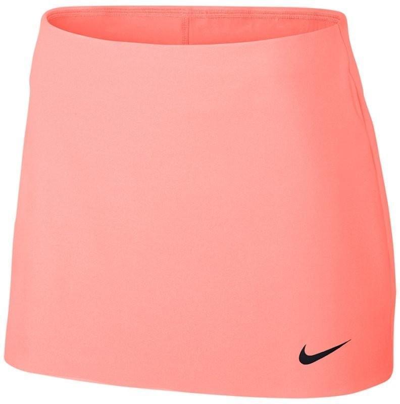 Теннисная юбка женская Nike Court Power Spin Tennis Skirt lava glow