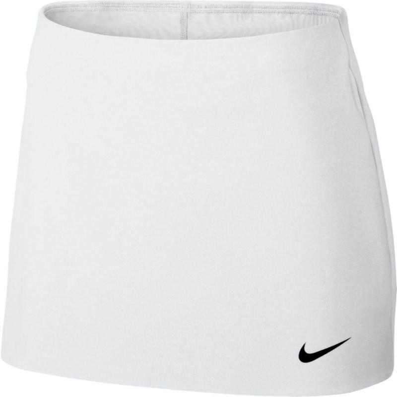 Теннисная юбка женская Nike Court Power Spin Tennis Skirt white/black