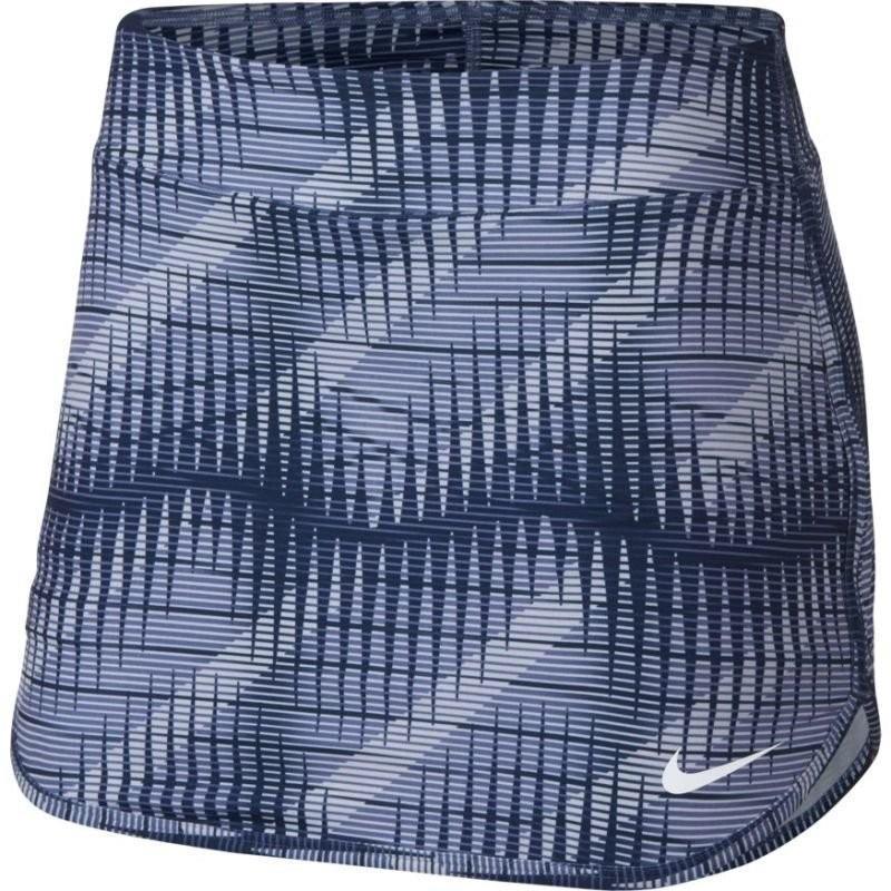 Теннисная юбка женская Nike Court Pure Print Skirt purple slate