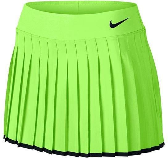 Теннисная юбка женская Nike Victory Skirt ghost green/black/black