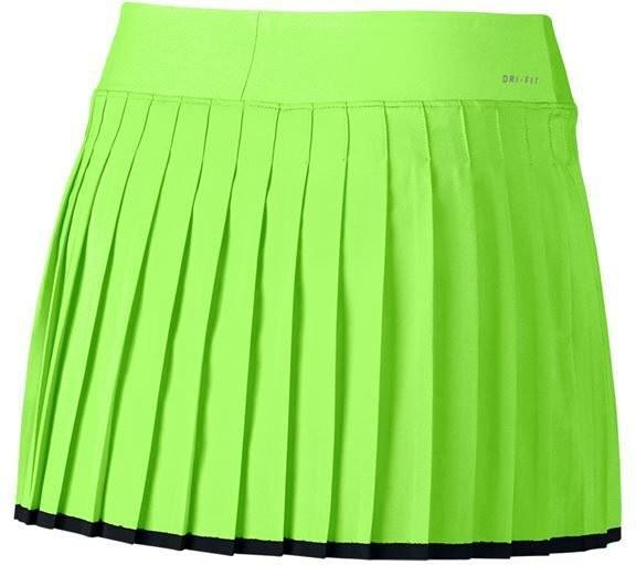 Теннисная юбка женская Nike Victory Skirt ghost green/black/black