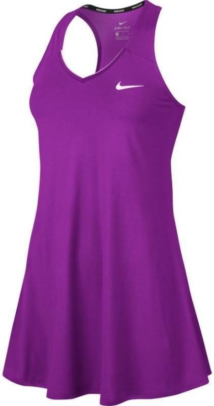 Теннисное платье женское Nike Court Pure Dress vivid purple/white