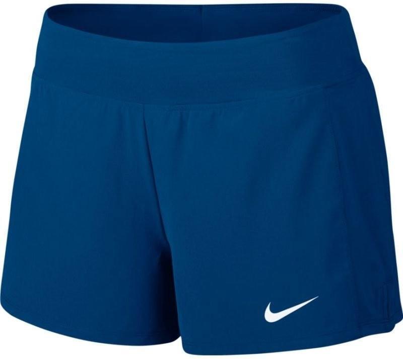 Теннисные шорты женские Nike Court FLX Pure Short blue jay/white