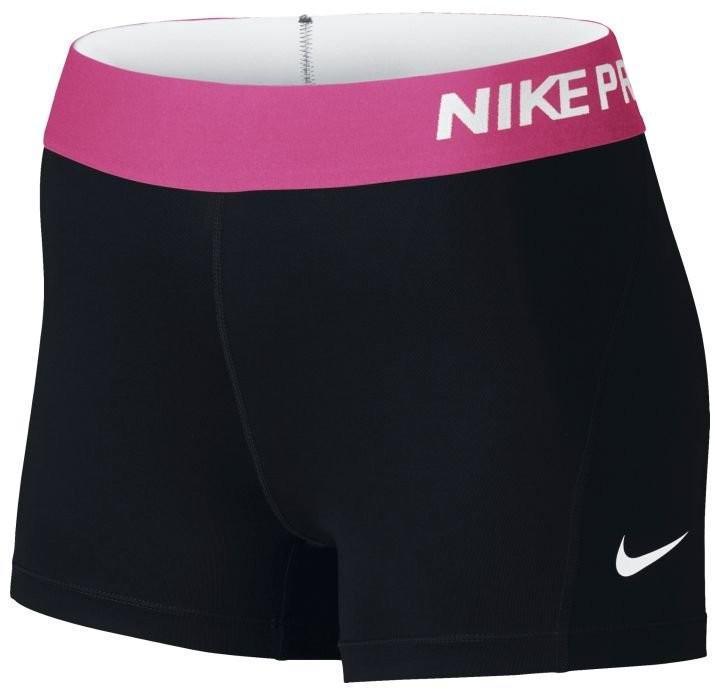 Теннисные шорты женские Nike Pro 3 Cool Short black/vivid pink/white