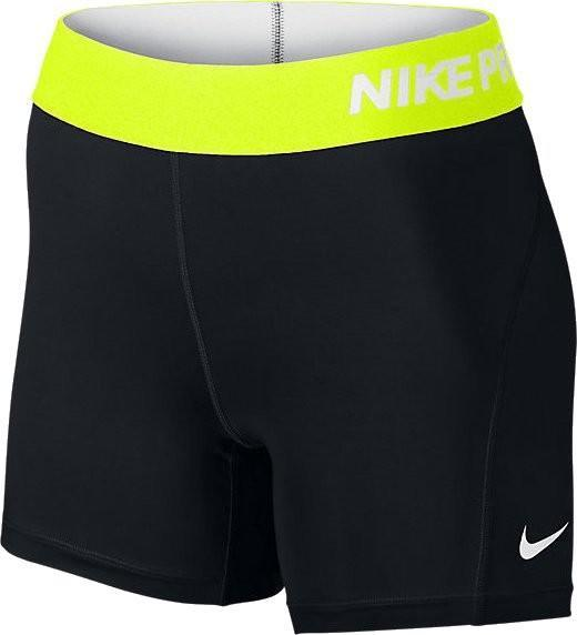 Теннисные шорты женские Nike Pro Womens 5 Training Shorts black/volt/white