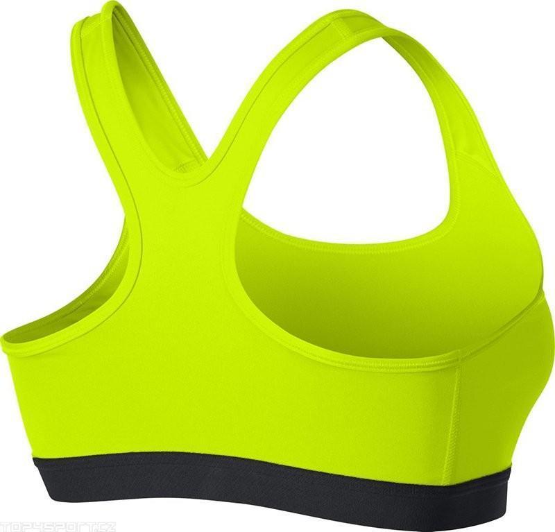 Топ женский Nike Pro Classic Sports Bra volt/black