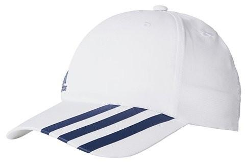 Теннисная кепка Adidas Climalite 3-Stripes Off-Centered Hat white/collegiate navy