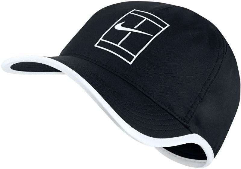 Теннисная кепка Nike Court Featherlight Cap black/white
