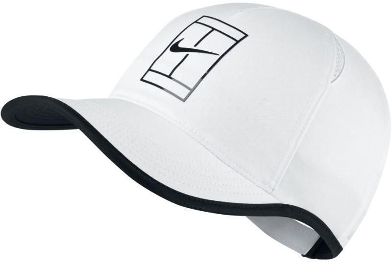 Теннисная кепка Nike Court Featherlight Cap white/black