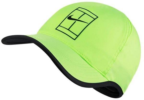 Теннисная кепка Nike Court U Aerobill Feather Light Cap ghost green/black/black/black
