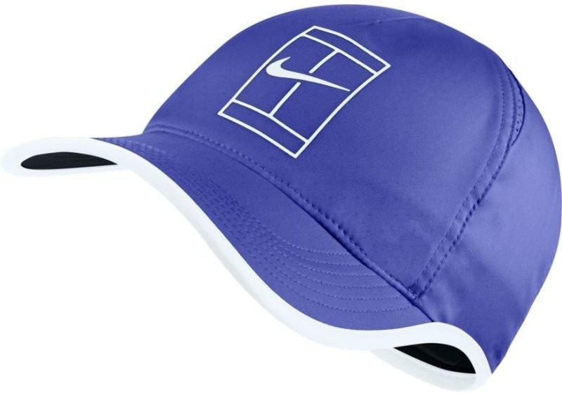 Теннисная кепка Nike Court U Aerobill Feather Light Cap paramount blue/white/black/white