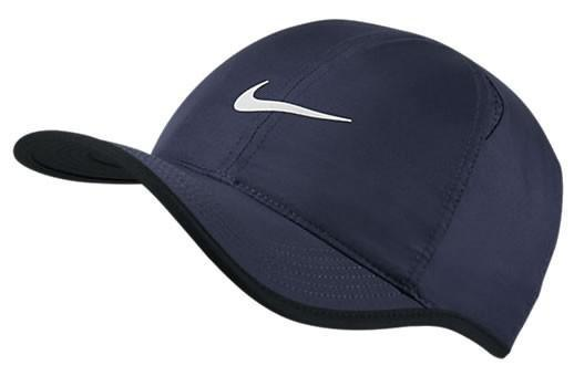 Теннисная кепка Nike Feather Light Cap midnight navy/black/white