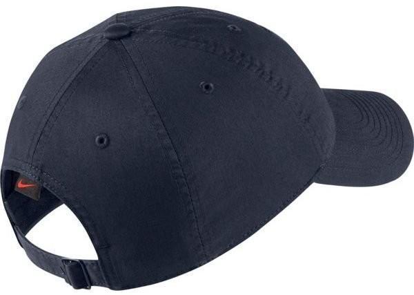 Теннисная кепка Nike H86 Court Logo Cap obsidian/red